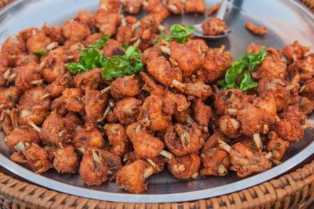 thai herb: Fried Chicken with Thai Herb Thailand market. Stock Photo