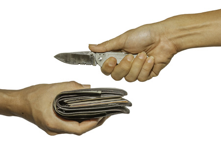 criminality: Plunder, with clipping path. Stock Photo