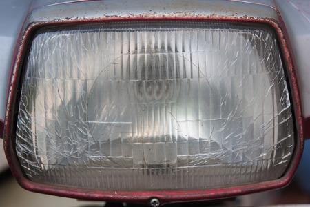 headlamp: Old headlamp background, Motorcycle. Stock Photo