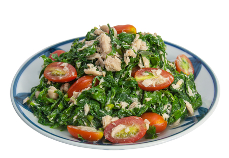 low fat diet: Vegetable fern salad, Low fat, diet food, Thai food.