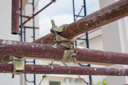 scaffolder: Scaffolding pipe clamp and parts, An important part of building strength to scaffold.