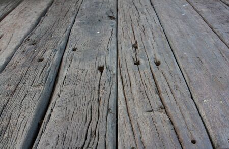 wooden floors: Old wooden floors, Shooting angle in obliquely. Stock Photo
