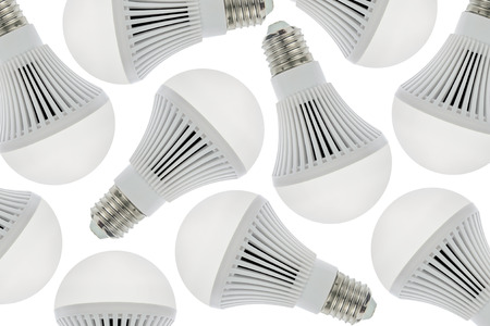 cree: LED light bulbs for background, Isolated on white background.