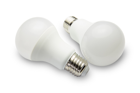 resourceful: LED light bulbs on a white background.
