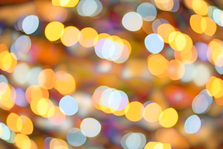 Bokeh background lighting at night, abstract art background blur night.