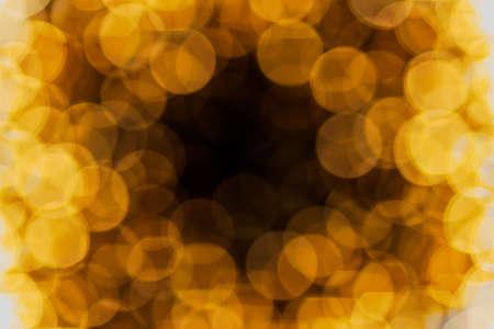 밤 빛, 흐린 추상 미술 배경 Bokeh 옐로우 골드 배경.
