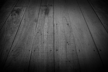 오래 된 목조 바닥, 질감 및 배경, 흑백 그림. 스톡 콘텐츠