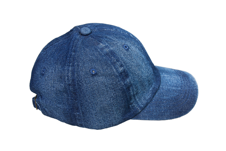 Cap, hat made of denim, Isolated on white background. 스톡 콘텐츠 - 102907495