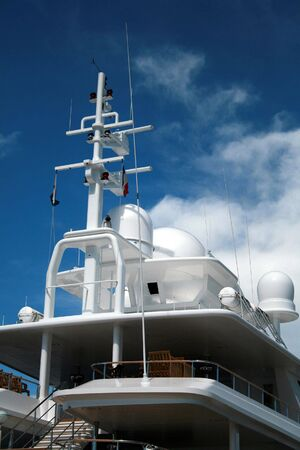 Navigational equipment onboard a super yacht photo