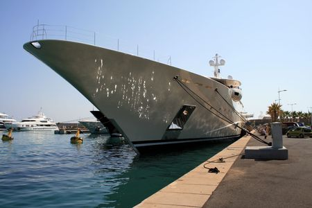 overwhelm: Super yacht in the marina