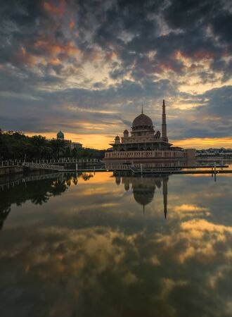 december sunrise: Putrajaya December 12, 2015, Sunrise with cloud Editorial