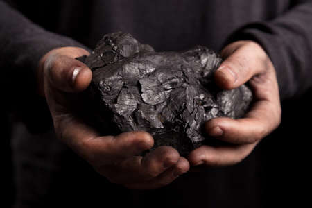 COAL MINER: coal in the hands of the working