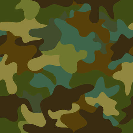 camouflage: vector summer camouflage  seamless pattern