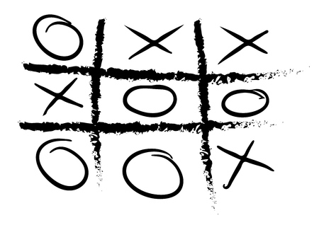 vector hand drawn noughts and crosses,