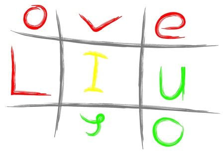 vector hand drawn noughts and crosses, Stok Fotoğraf - 119955425