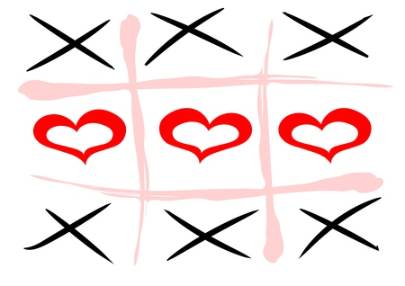 vector hand drawn noughts and crosses, Stok Fotoğraf - 119955428