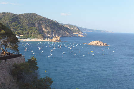 The Mediterranean coast near the coast of Catalonia, in Tossa de Mar  Stock Photo - 17422246