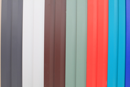 Stripes, which are made of metal, photographed close-up with natural light