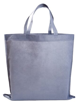 Sample gray non-woven bag isolated on white