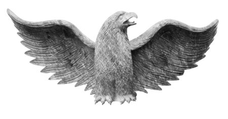 Eagle sculpture isolated on white