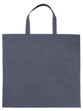 Gray non-woven bag isolated on white