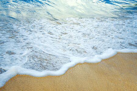 Wave beach at tropical beach.