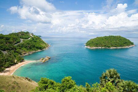 Yanui Beach and Manor Island, Phuket, Thailand.