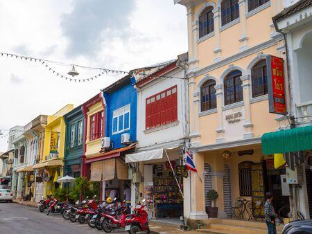 Krabi road, Phuket town, Thailand - June 5, 2019: Old Town.