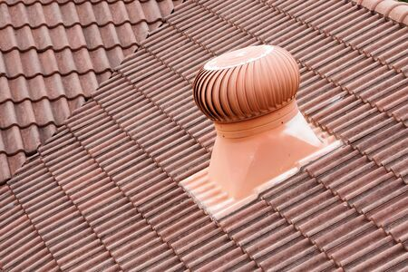 Roof air ventilator for room heat control.