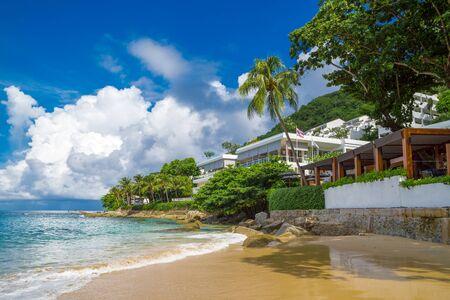 Beautiful Nai Harn Bay in Phuket, Thailand on a summer day.