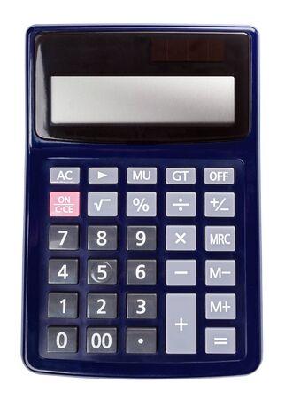 Calculator isolated on white. Stock Photo