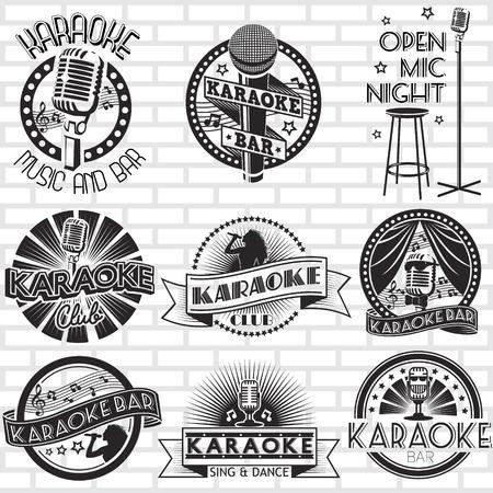 Karaoke vector labels design