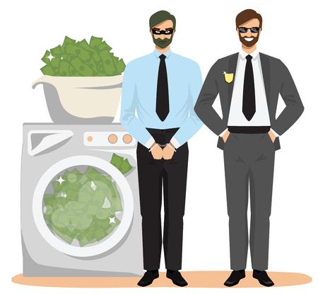 Anti money laundering concept vector illustration