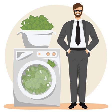 Money laundering concept illustration. Illustration
