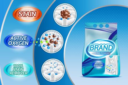 lavage de la lessive modèle de vecteur d & # 39 ; argile illustration . clean conception d & # 39 ; argile de shampooing pour votre marque