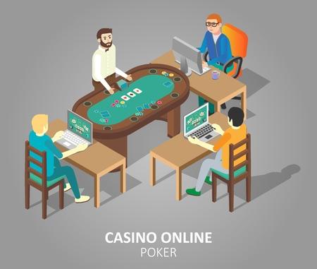 Casino online poker game concept. Illustration