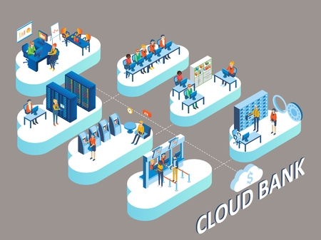 Cloud bank concept.