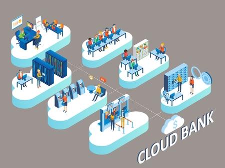 Cloud bank concept.