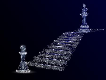 Path to success vector geometric polygonal background Illustration