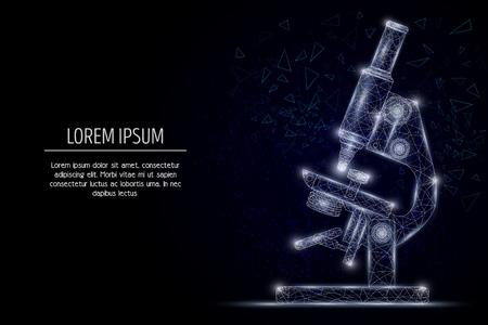 Mikroskop wektor geometryczny wielokątny projekt w stylu sztuki