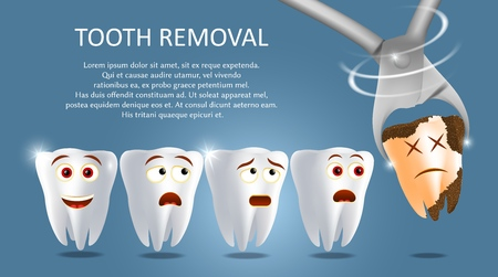 Tooth removal concept vector poster banner template Standard-Bild - 121509390