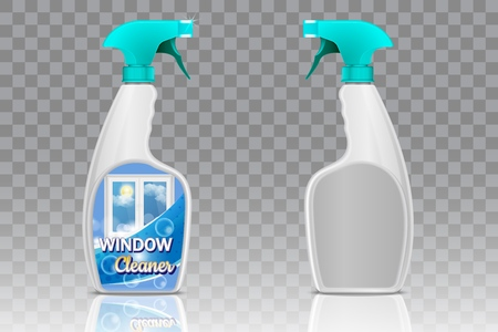 Spray bottle mockup set, vector realistic illustration Ilustrace