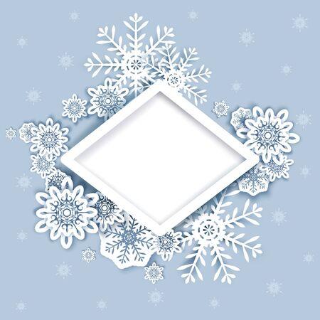 Merry Christmas Happy New Year vector poster design template Ilustração