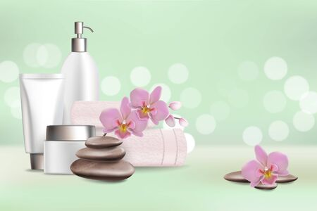 Spa salon services vector poster design template
