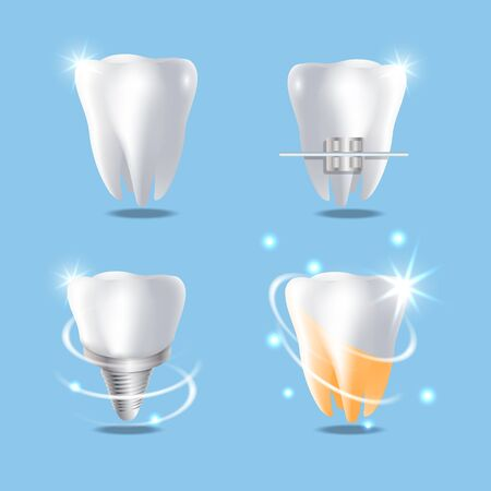 Professional dental services vector concept isolated illustration