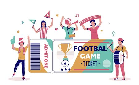 Football tournament tickets vector poster, banner template.