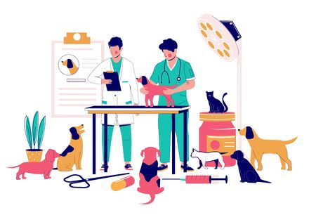 Veterinary clinic services, vector flat style design illustration 向量圖像