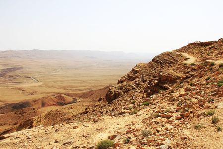 nature reserves of israel: Negev desert and Ramon crater in Israrel.