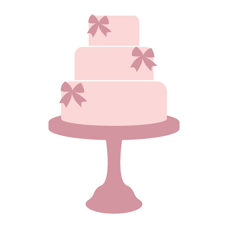 wedding cake: Vintage wedding cake label. Design template for label, badge or logo. Vector.