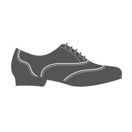 Elegant man s shoe isolated on white background. Argentine tango shoes.